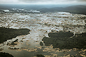 Xingu River, Brazil. Aerial view of rocky rapids.