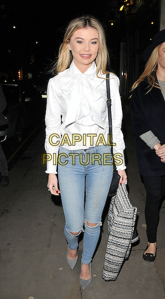 Georgia Toffolo attends the Jane Taylor flagship store launch party, Jane Taylor, King's Road, London, UK, on Tuesday 01 December 2015.<br /> CAP/CAN<br /> &copy;Can Nguyen/Capital Pictures