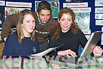 LOTS OF COURSES TO OFFER: Caroline Cashel from Tralee Community College showed students Eva Barrington from Presentation Secondary School and Chris OCallaghan from CBS The Green the varied courses available.  .