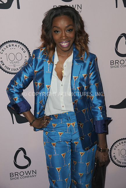 WWW.ACEPIXS.COM<br /> April 23, 2014 New York City<br /> <br /> Estelle attending the Brown Shoe Company celebration of 100 Years on the New York Stock Exchange at 4 World Trade Center in New York City on April 23, 2014.<br /> <br /> By Line: Kristin Callahan/ACE Pictures<br /> ACE Pictures, Inc.<br /> tel: 646 769 0430<br /> Email: info@acepixs.com<br /> www.acepixs.com