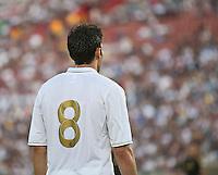 LOS ANGELES, CA – July 16, 2011: Kaka' (8) of Real Madrid during the match between LA Galaxy and Real Madrid at the Los Angeles Memorial Coliseum in Los Angeles, California. Final score Real Madrid 4, LA Galaxy 1.