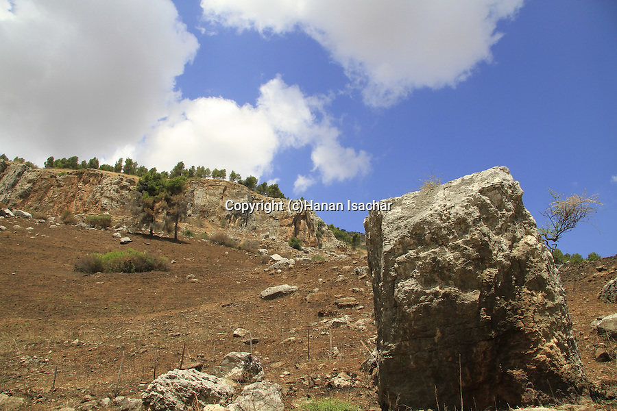 Israel, Upper Galilee, the Geological park in Ramim Cliff