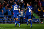 Kenedy of Getafe FC celebrates goal during UEFA Europa League match between Getafe CF and AFC Ajax at Coliseum Alfonso Perez in Getafe, Spain. February 20, 2020. (ALTERPHOTOS/A. Perez Meca)