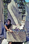 Jim Morrisson's Grave In Pere Lachaise