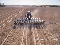 63801-10020 Farmer planting corn-aerial Marion Co. IL
