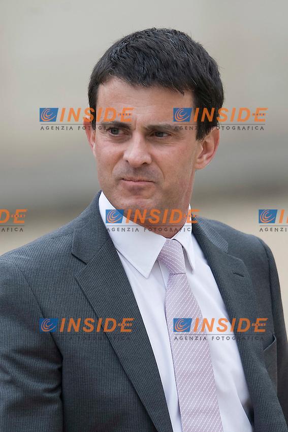 Manuel Valls  Ministro degli Interni.Parigi 17/05/2012 Palazzo presidenziale dell'Eliseo - Primo Consiglio dei Ministri del nuovo Governo francese.Foto Insidefoto /JB Autissier / Panoramic.ITALY ONLY.