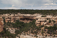 Mesa Verde Cliff Dwelling  - part of a squence viewing the cliff dwelling from a distance.