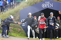 Brooks Koepka (USA) walks to the 9th tee during Sunday's Final Round of the 148th Open Championship, Royal Portrush Golf Club, Portrush, County Antrim, Northern Ireland. 21/07/2019.<br /> Picture Eoin Clarke / Golffile.ie<br /> <br /> All photo usage must carry mandatory copyright credit (© Golffile | Eoin Clarke)