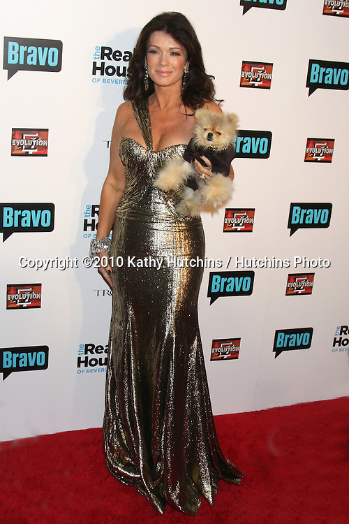 """LOS ANGELES - OCT 11:  Lisa Vanderpump arrives at the """"Real Housewives of Beverly Hlls"""" Premiere Party at Trousdale.Theatre on October 11, 2010 in West Hollywood, CA"""