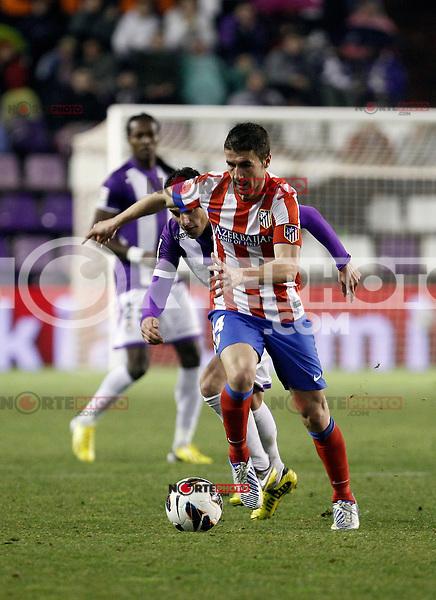 Mario Suarez during Real Valladolid V Atletico de Madrid match of La Liga 2012/13. 17/02/2012. Victor Blanco/Alterphotos /NortePhoto