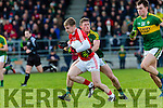 KerryJonathan Lyne stops Matthew Kelleher Cork during the McGrath cup clash in Mallow on Sunday