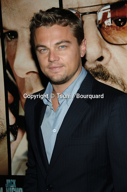 Leonardo DiCaprio arriving at the Departed LA Screening  at The DGA  In Los Angeles.<br /> <br /> headshot<br /> eye contact