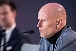 Coach Stale Solbakken during FC Copenhague press conference day before Europa League match between Atletico de Madrid and FC Copenhague at Wanda Metropolitano in Madrid , Spain. February 21, 2018. (ALTERPHOTOS/Borja B.Hojas)