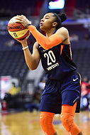 Washington, DC - June 3, 2018: Connecticut Sun guard Alex Bentley (20) shoots a jump shot during game between the Washington Mystics and Connecticut Sun at the Capital One Arena in Washington, DC. (Photo by Phil Peters/Media Images International)
