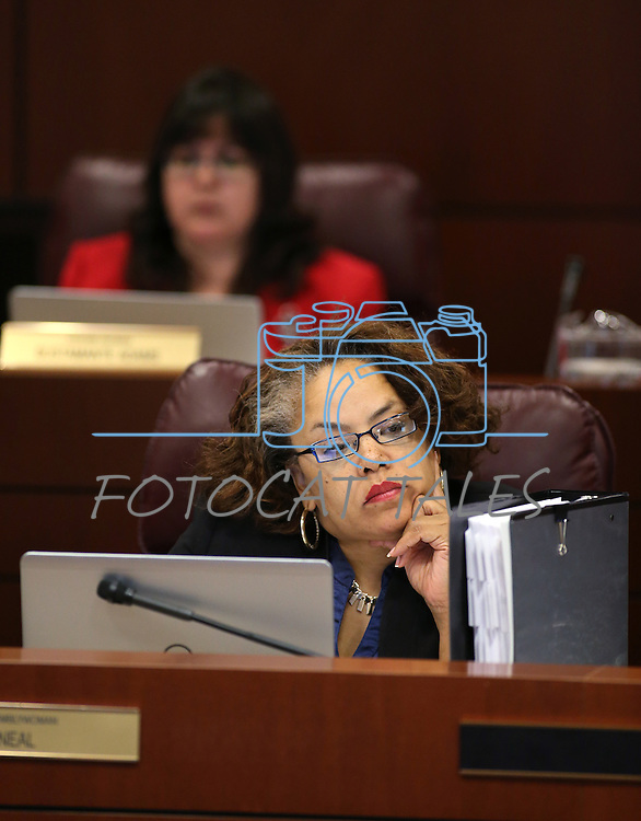 Nevada Assemblywoman Dina Neal, D-North Las Vegas, works in commitee at the Legislative Building in Carson City, Nev., on Tuesday, April 7, 2015. <br /> Photo by Cathleen Allison