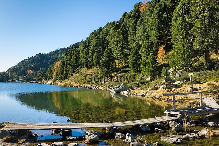 Austria, East-Tyrol, High Tauern National Park, Upper lake at Staller Sattel passroad connecting valley Defereggen with Valle d'Anterselva | Oesterreich, Osttirol, Nationalpark Hohe Tauern, Obersee am Staller Sattel, die Passstrasse verbindes das Defereggental mit dem Antholzertal in Suedtirol