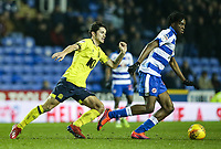 Blackburn Rovers' Lewis Travis chases down Reading's Ovie Ejaria  <br /> <br /> Photographer Andrew Kearns/CameraSport<br /> <br /> The EFL Sky Bet Championship - Reading v Blackburn Rovers - Wednesday 13th February 2019 - Madejski Stadium - Reading<br /> <br /> World Copyright © 2019 CameraSport. All rights reserved. 43 Linden Ave. Countesthorpe. Leicester. England. LE8 5PG - Tel: +44 (0) 116 277 4147 - admin@camerasport.com - www.camerasport.com