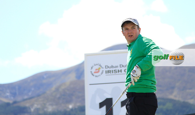 Jack Hume (IRL) on the 11th tee during Round 1 of the 2015 Dubai Duty Free Irish Open, Royal County Down Golf Club, Newcastle Co Down, Northern Ireland. 28/05/2015<br /> Picture Thos Caffrey, www.golffile.ie