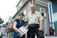 Our Revolution Somerville MA door knocking campaign 9.16.17 for November 7 candidates for ward alderman and school committee elections