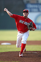 Batavia Muckdogs pitcher Nick McCully (13) during a game vs. the Connecticut Tigers at Dwyer Stadium in Batavia, New York July 8, 2010.   Connecticut defeated Batavia 4-2 in extra innings.  Photo By Mike Janes/Four Seam Images