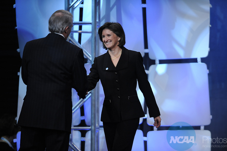15 JAN 2010: Deb Richard during the Honors Celebration at the 2010 NCAA Convention held at the Marriott Marquis and the Hyatt Regency in Atlanta, GA. Brett Wilhelm/NCAA Photos.