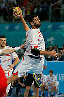 17.01.2013 World Championshio Handball. Match between Spain vs Hungray at the stadium La Caja Magica. The picture show  Jorge Maqueda Pena (Right Back of Spain)