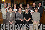Pictured at the presentation of EUR4,500 to St Josephs Home, Killorglin, Cystic Fibrosis and Alzehimers, Centre, Tralee at the annual Kilcolman Womens Group fundraising dinner in Kate Kearneys, Beaufort on Monday night were Sr Mary, St Josephs home, Killorglin, Dorothea Stephens, Kilcolmans Womens Group, Betty Hand, Cystic Fibrosis, Mary Flynn, Alzehimers Centre, Tralee, Sr Helena, Sr Consilli, Mary Flynn, Sr Elizabeth, Johanna O'Sullivan, Angela Kelliher and Rhona Clifford.