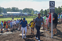 Phil Mickelson (USA) and Jason Day (AUS) head down 12 during 1st round of the 100th PGA Championship at Bellerive Country Cllub, St. Louis, Missouri. 8/9/2018.<br /> Picture: Golffile | Ken Murray<br /> <br /> All photo usage must carry mandatory copyright credit (© Golffile | Ken Murray)