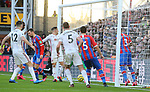 Sheffield United's Oliver Norwood takes a corner which leads to an own goal by Crystal Palace's goalkeeper Vicente Guaita to make it 1-0 during the Premier League match at Selhurst Park, London. Picture date: 1st February 2020. Picture credit should read: Paul Terry/Sportimage