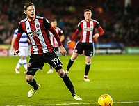 Sheffield United's defender Richard Stearman (19) during the Sky Bet Championship match between Sheff United and Queens Park Rangers at Bramall Lane, Sheffield, England on 20 February 2018. Photo by Stephen Buckley / PRiME Media Images.