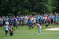 Rory McIlroy (NIR) hits his approach shot on 12 during round 2 of the WGC FedEx St. Jude Invitational, TPC Southwind, Memphis, Tennessee, USA. 7/26/2019.<br /> Picture Ken Murray / Golffile.ie<br /> <br /> All photo usage must carry mandatory copyright credit (© Golffile | Ken Murray)