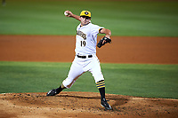Bradenton Marauders relief pitcher Bret Helton (19) delivers a pitch during a game against the Clearwater Threshers on April 18, 2017 at LECOM Park in Bradenton, Florida.  Clearwater defeated Bradenton 4-2.  (Mike Janes/Four Seam Images)