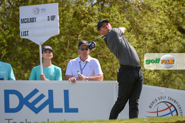 Rory McIlroy (NIR) watches his tee shot on 12 during day 1 of the WGC Dell Match Play, at the Austin Country Club, Austin, Texas, USA. 3/27/2019.<br /> Picture: Golffile | Ken Murray<br /> <br /> <br /> All photo usage must carry mandatory copyright credit (© Golffile | Ken Murray)