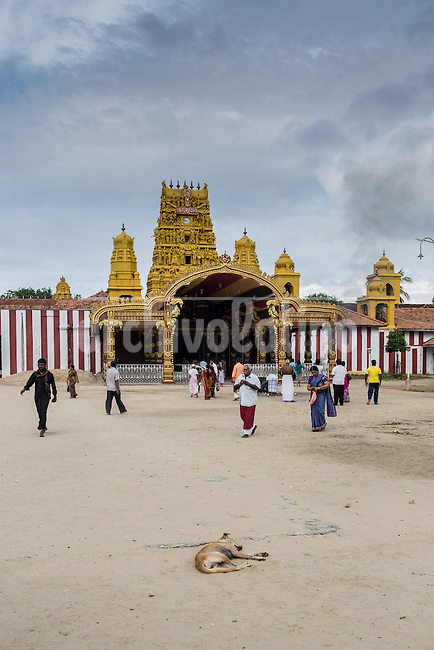 Sri Lanka, dec 2015. Nallur Temple in Jaffna.