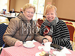 Aoife Clinton and Anne Carroll at the coffee morning in St Peters Parish hall in aid of Clogherhead lifeboat.  Photo:Colin Bell/pressphotos.ie