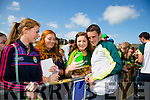 L-r Ciara Keane, Chloe Leen and Aoife Leen at Kerry GAA family day at Fitzgerald Stadium  on Sunday