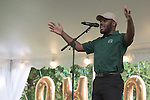 Ohio University's BSCPB President, Jeffrey Billingslea, speaks during the Black Alumni Reunion during its welcome reception at Tailgreat Park on Thursday, September 15, 2016.