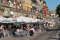 restaurant terrace cais da ribeira porto portugal