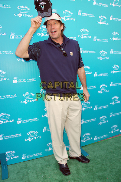 "KEVIN SORBO .""Callaway Golf Foundation Challenge"" Benefiting Entertainment Industry Foundation (EIF) Cancer Research Programs held at The Riviera Country Club, Pacific Palisades, CA, USA, 02 February 2009..full length blue top cap hat  .CAP/ADM/KB.©Kevan Brooks/Admedia/Capital PIctures"