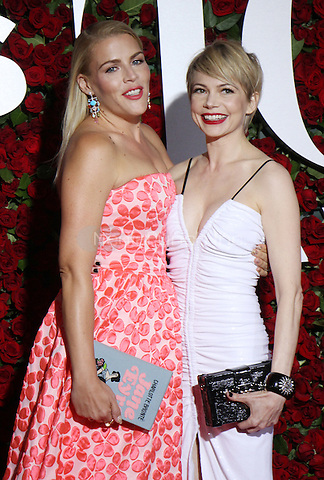NEW YORK, NY-June 12: Busy Philipps,  Michelle Williams  at the 70th Annual Tony Awards at the Beacon Theatre in New York. NY June 12, 2016. Credit:RW/MediaPunch