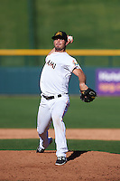 Mesa Solar Sox pitcher Tyler Kinley (23) delivers a pitch during an Arizona Fall League game against the Scottsdale Scorpions on October 19, 2015 at Sloan Park in Mesa, Arizona.  Scottsdale defeated Mesa 10-6.  (Mike Janes/Four Seam Images)
