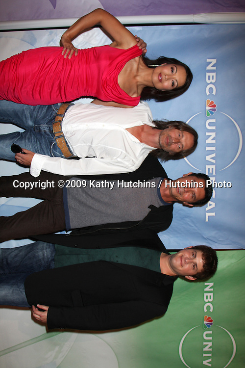 Ming-Na, Robert Carlyle, David Blue, and Lou Diamond Phillips  arriving at the NBC TCA Party at The Langham Huntington Hotel & Spa in Pasadena, CA  on August 5, 2009 .©2009 Kathy Hutchins / Hutchins Photo..