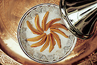 Morocco. Cornes de gazelle Pastry.  Gum Arabic an ingredient.