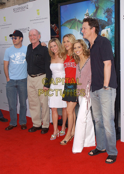 FREDDIE PRINZE JR., LINDA CARDELLINI, ALICIA SILVERSTONE, SARAH MICHELLE GELLAR & MATTHEW LILLARD.Scooby-Doo 2 Monsters Unleashed World Premiere held at The Grauman's Chinese Theatre in Hollywood, California .20 March 2004.*UK Sales Only*.www.capitalpictures.com.sales@capitalpictures.com.©Capital Pictures.