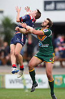 The Wyong Roos play Erina Eagles in Round 9 of the First Grade Central Coast Rugby League Division at Morry Breen Oval on 16th of June, 2019 in Kanwal, NSW Australia. (Photo by Paul Barkley/LookPro)