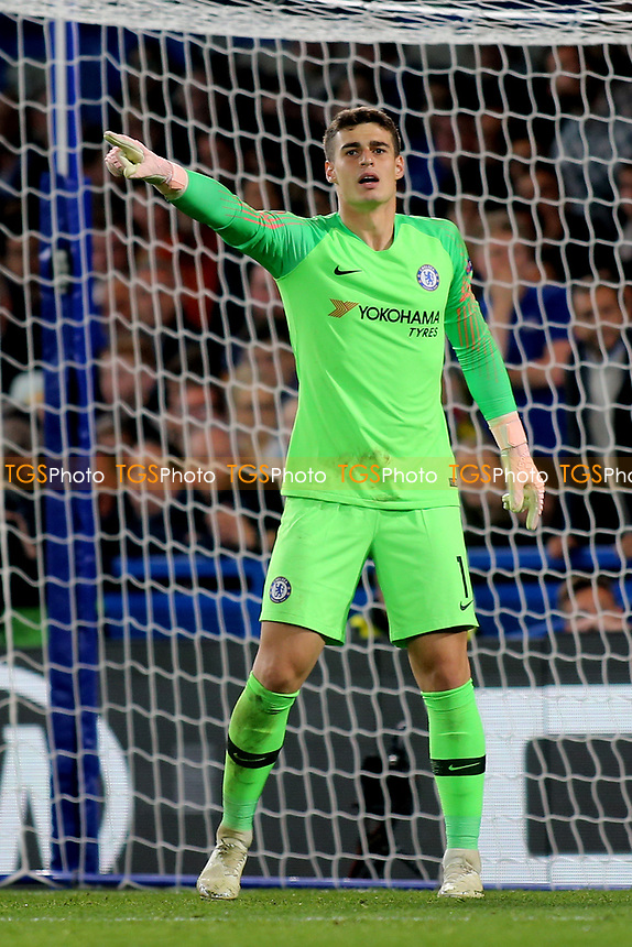 Chelsea goalkeeper, Kepa Arrizabalaga during Chelsea vs MOL Vidi, UEFA Europa League Football at Stamford Bridge on 4th October 2018