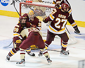 Wade Bergman (Duluth - 28), Quinn Smith (BC - 27), Kenny Reiter (Duluth - 35), David Grun (Duluth - 27) - The Boston College Eagles defeated the University of Minnesota Duluth Bulldogs 4-0 to win the NCAA Northeast Regional on Sunday, March 25, 2012, at the DCU Center in Worcester, Massachusetts.