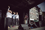 Cervelo- Bigla Pro Cycling Team at the Team presentation of La Fleche Wallonne Femmes 2018 running 118.5km from Huy to Huy, Belgium. 17/04/2018.<br /> Picture: ASO/Thomas Maheux | Cyclefile.<br /> <br /> All photos usage must carry mandatory copyright credit (&copy; Cyclefile | ASO/Thomas Maheux)
