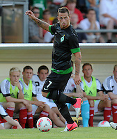 FUSSBALL   1. BUNDESLIGA   SAISON 2012/2013   TESTSPIEL  Werder Bremen - FC Aberdeen         25.07.2012 Marko Arnautovic (SV Werder Bremen) Einzelaktion am Ball
