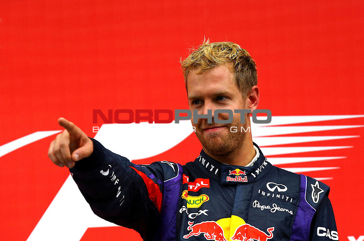 Podium - Sebastian Vettel (GER), Red Bull Racing <br /> for Austria &amp; Germany Media usage only!<br />  Foto &copy; nph / Mathis